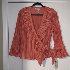 Jackie Jon New York Coral Blouse New/tags